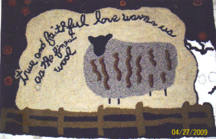 Faithful and true sheep rug
